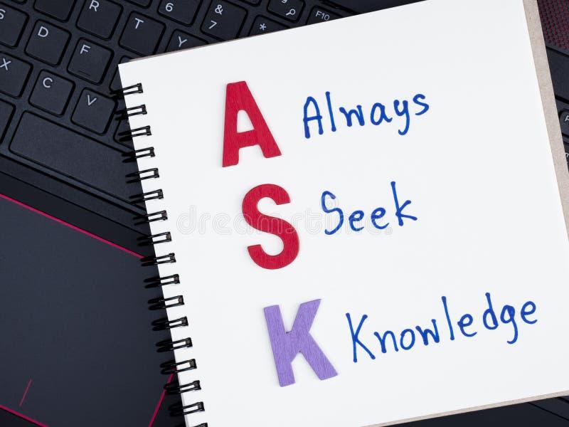 Siempre conocimiento de la búsqueda en el teclado 1 del ordenador portátil foto de archivo libre de regalías