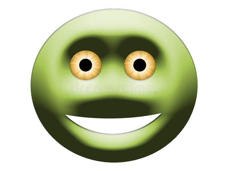 Siempre sonriendo con los ojos amarillos stock de ilustración