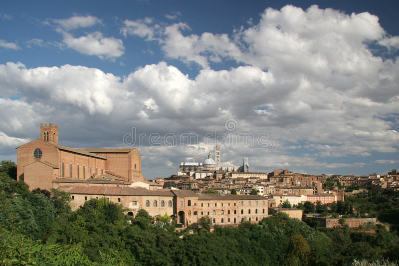 Download Siena stock photo. Image of clouds, siena, tourist, summer - 1556784