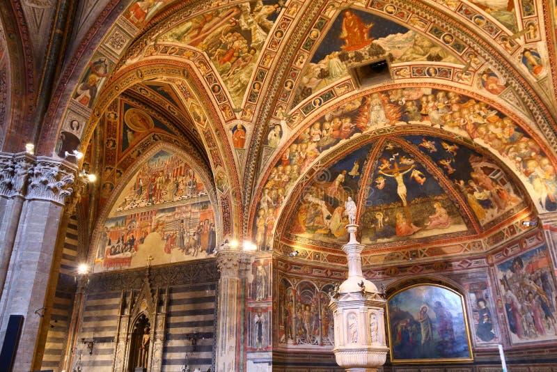 Siena Baptistery imagem de stock royalty free