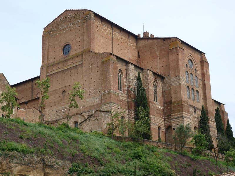 Siena - a basílica de San Domenico, foto de stock
