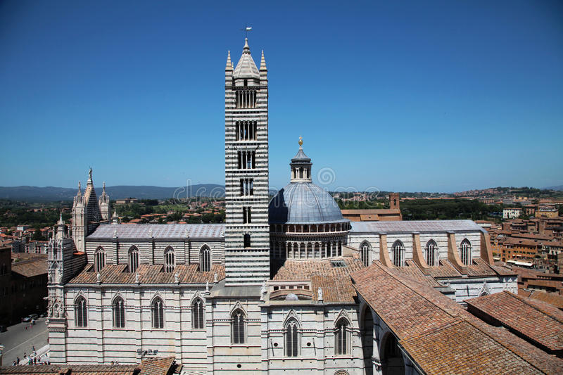 Download Siena cathedral stock photo. Image of aerial, history - 23622308