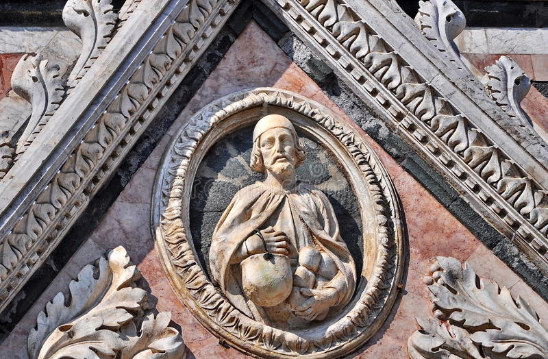 Siena Cathedral detail, Italy royalty free stock photos