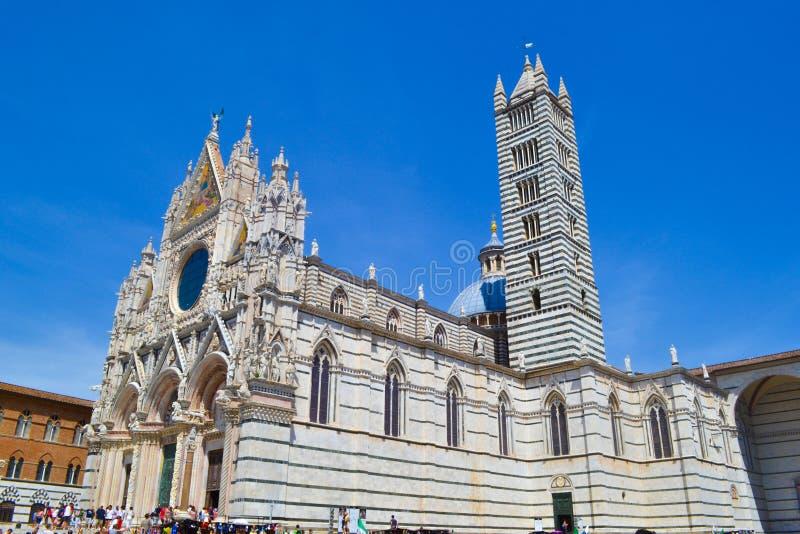 Siena Cathedral Duomo di Siena, Metropolitan Cathedral of Saint stock image