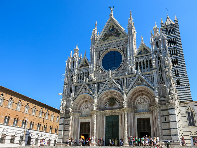 Siena Cathedral in Italy royalty free stock image