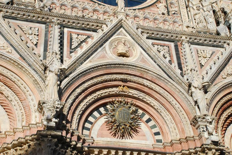 Siena Cathedral, Markstein, Bogen, mittelalterliche Architektur, byzantinische Architektur stockbilder