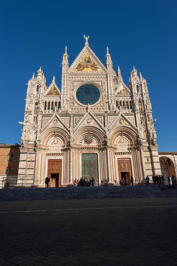 Siena Cathedral Santa Maria Assunta - Toscana Italia imagen de archivo