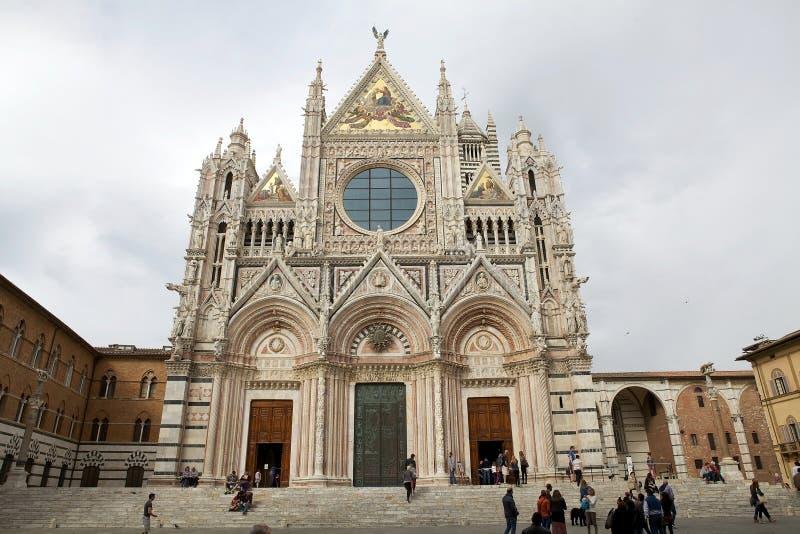 Siena Cathedral, Siena, Toscanië, Italië royalty-vrije stock afbeeldingen