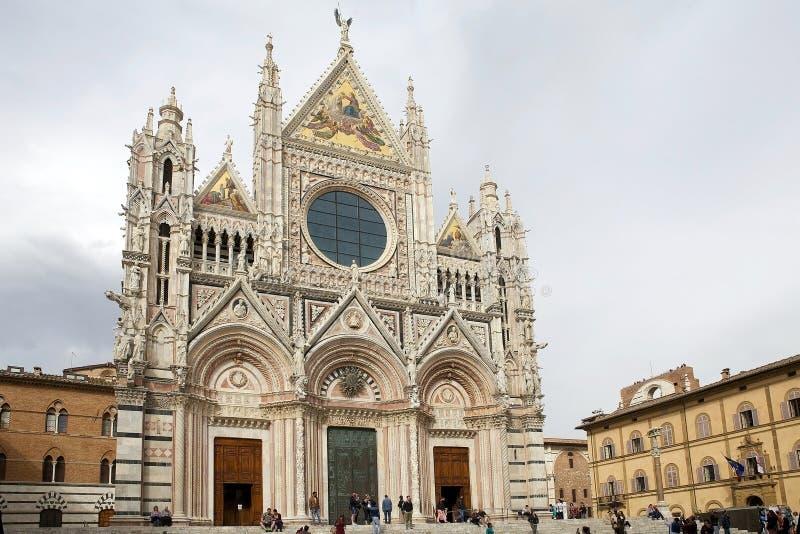 Siena Cathedral, Siena, Toscanië, Italië royalty-vrije stock foto's