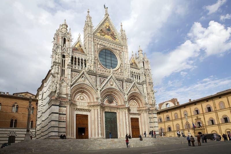 Siena Cathedral, Siena, Toscanië, Italië royalty-vrije stock foto