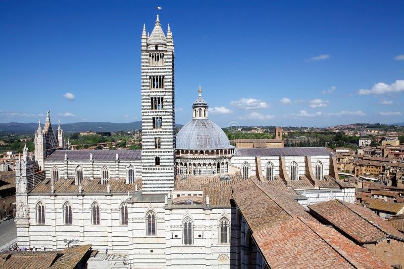 Siena Cathedral, Toscanië, Siena, Italië stock fotografie