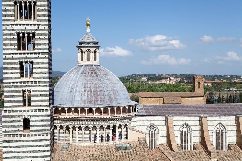 Siena Cathedral, Toscanië, Siena, Italië stock foto's