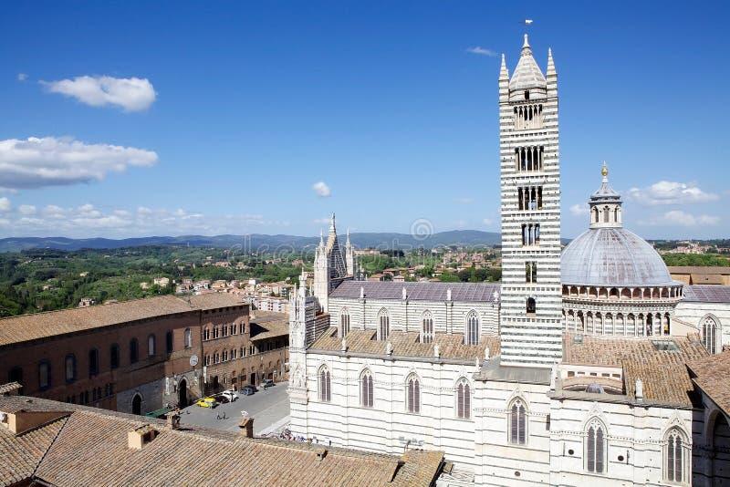 Siena Cathedral, Toscanië, Siena, Italië stock afbeelding
