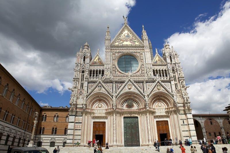 Siena Cathedral, Toscanië, Siena, Italië royalty-vrije stock foto