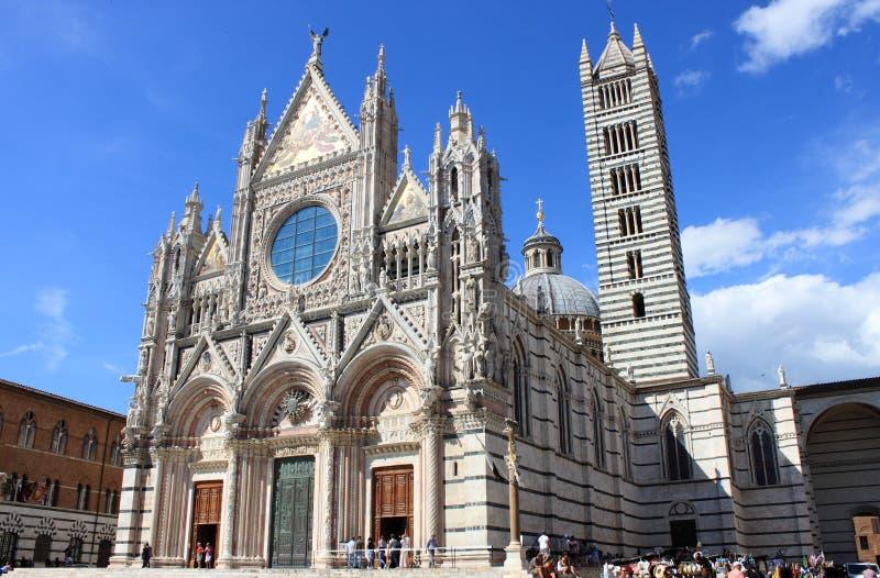 Siena Cathedral in Toscani?, Itali? stock fotografie