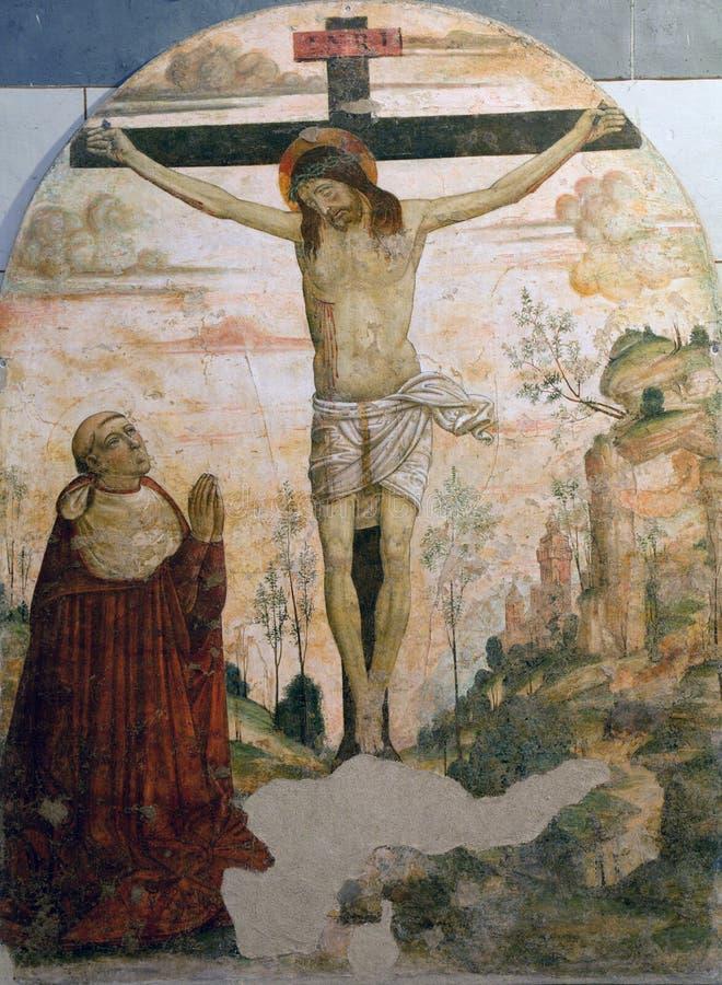 Siena - Christ auf dem Kreuz lizenzfreies stockfoto