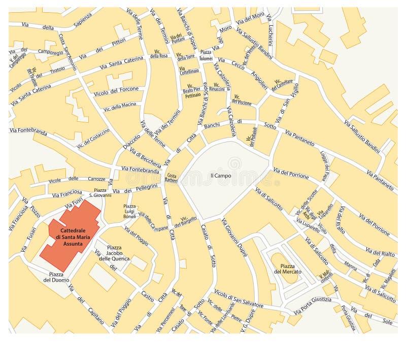Siena city map Italy stock illustration Illustration of siena