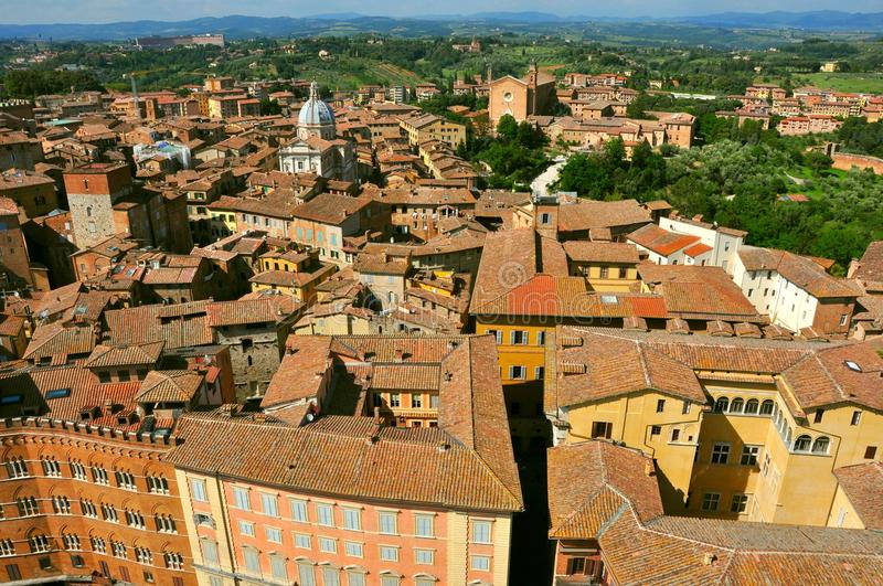 Download Siena city panorama, Italy stock photo. Image of country - 25101336