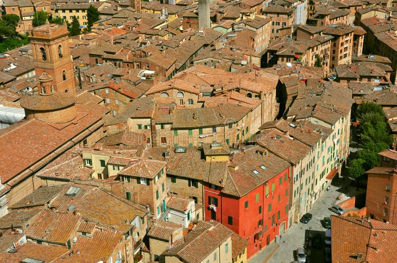 Download Siena city panorama, Italy stock image. Image of architecture - 25101355