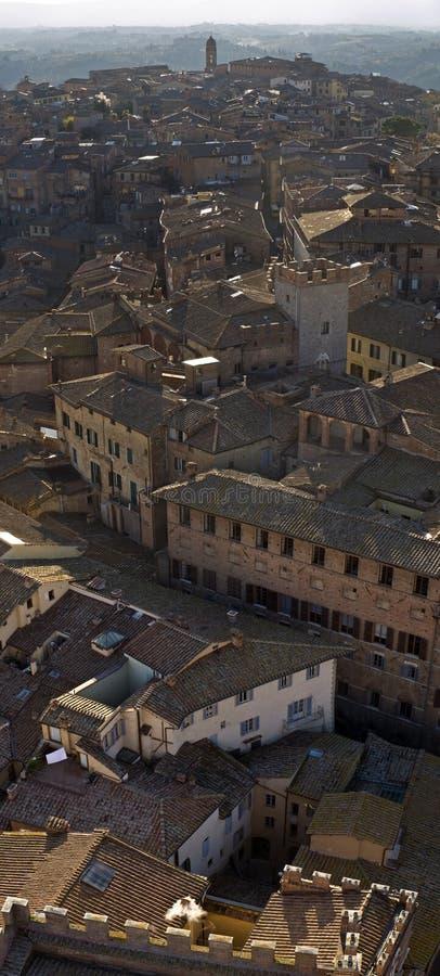 Siena daken stock afbeelding