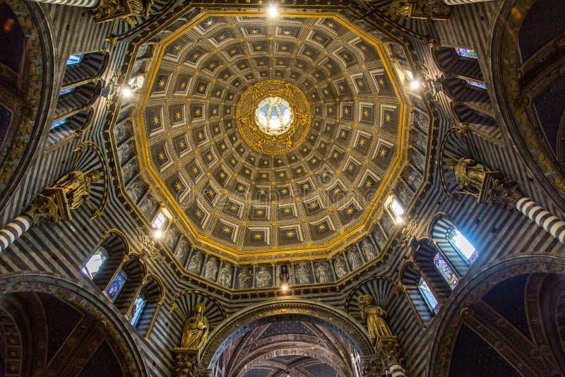 Siena Duomo di Diena fotografia stock libera da diritti