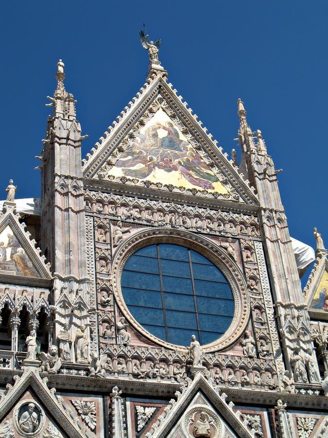 Siena Duomo facade royalty free stock images