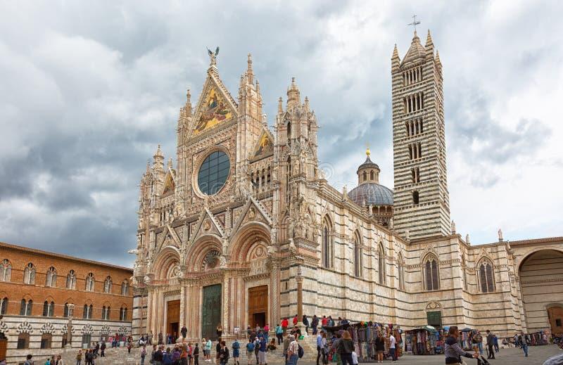 Siena Duomo Katedralny di Siena jest średniowiecznym kościół zdjęcie royalty free