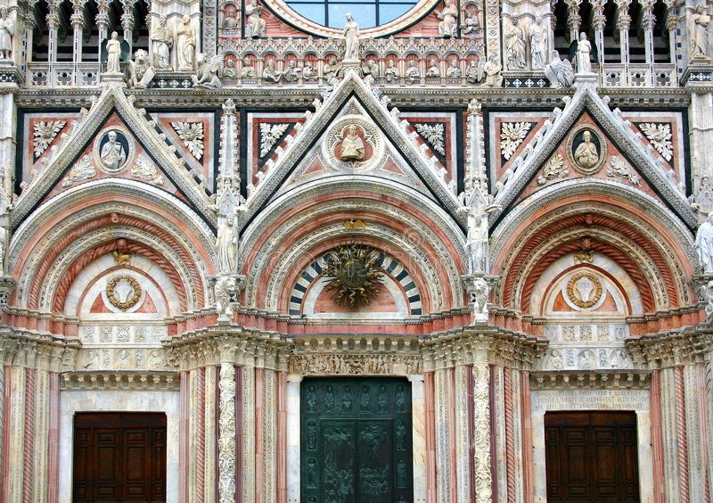 Siena, fachada da catedral fotografia de stock royalty free