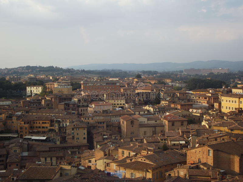 Siena historical buildings royalty free stock photography