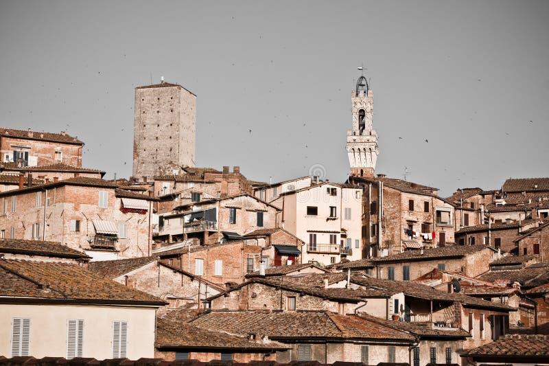 Siena historische architectuur royalty-vrije stock fotografie