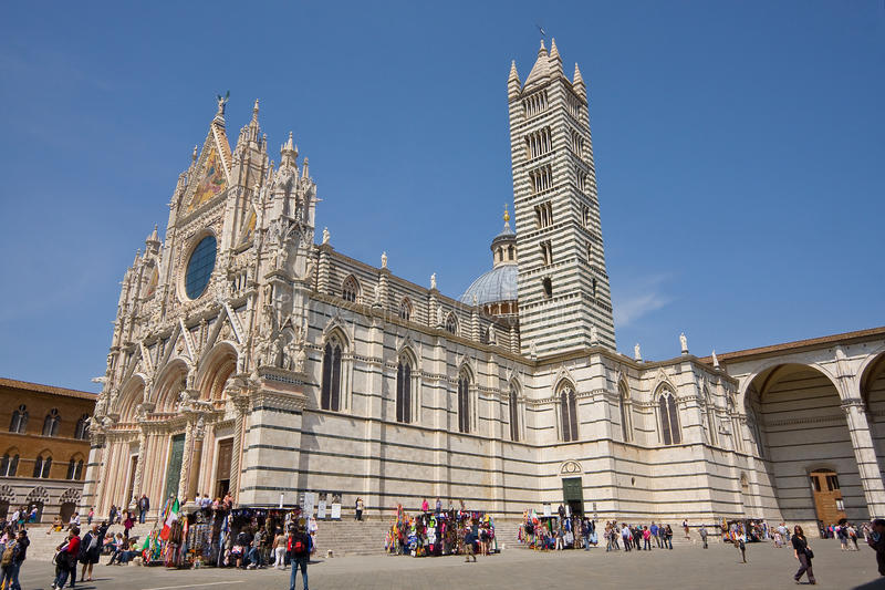 Siena hoofdkathedraal royalty-vrije stock fotografie