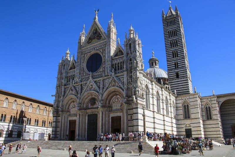 SIENA, ITALIA - 5 DE JULIO DE 2017: Siena Cathedral Santa Maria Assunt foto de archivo libre de regalías