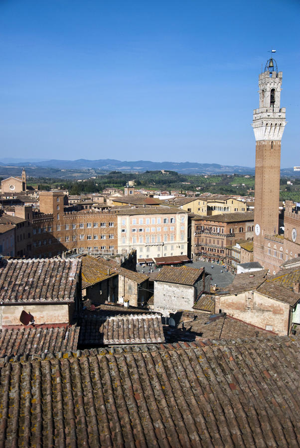 Siena - Italy. The olt town of Siena Italy - Top view royalty free stock photos