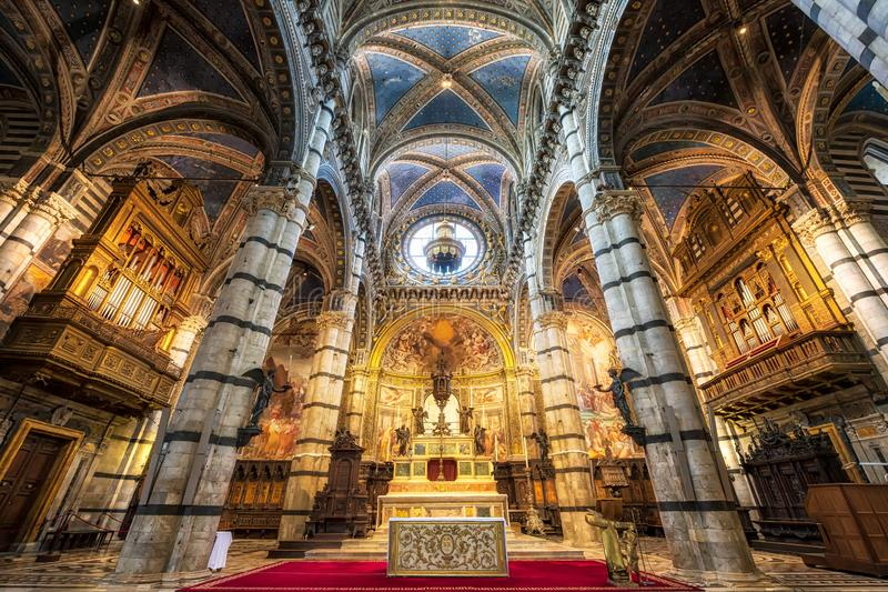 Interior of Siena Cathedral royalty free stock photos