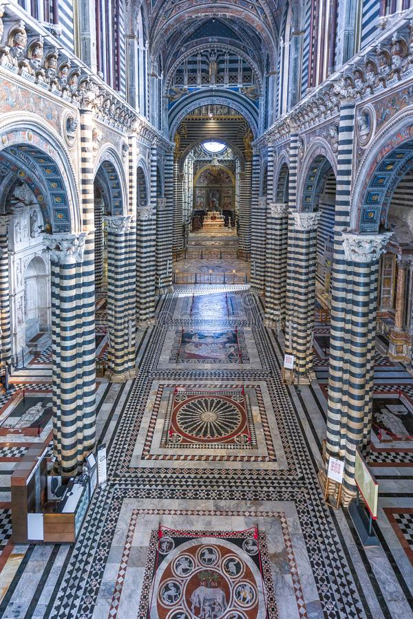 The architectures and the art of Siena stock photography