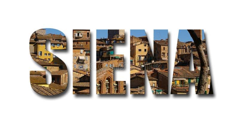 Siena Italy i bokstäver royaltyfria foton