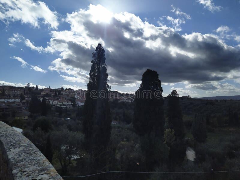 Siena Italy Night Sun royalty free stock photography