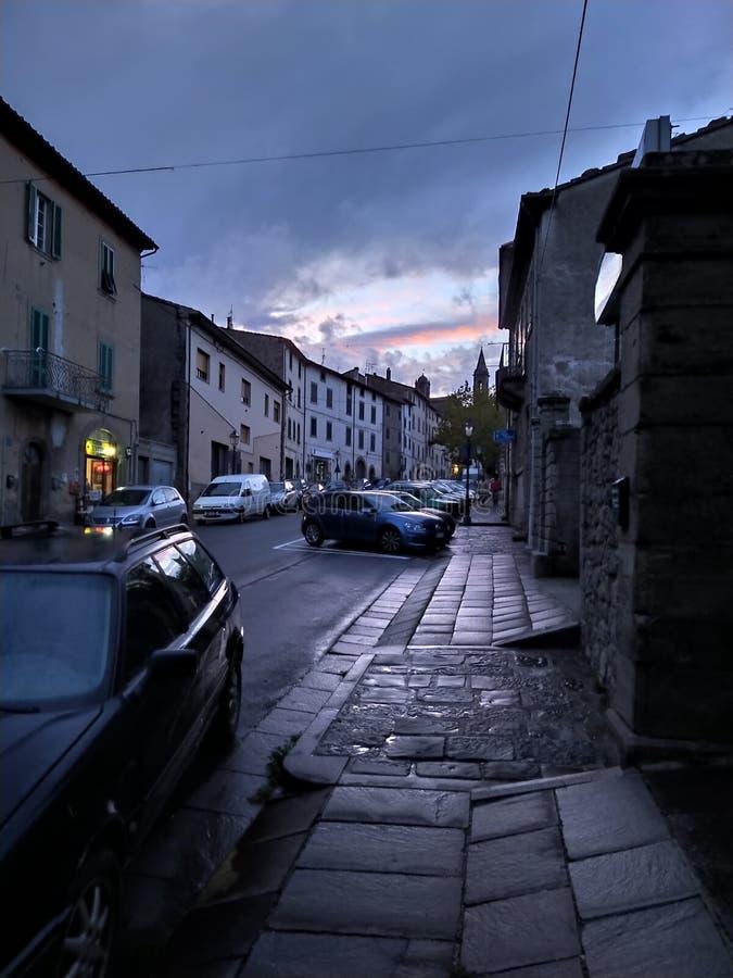 Siena Italy Night Sun. San, quiricodorcia, provinciadi, provinciadisiena royalty free stock photo