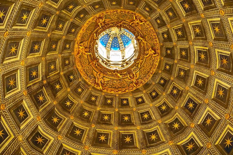 Siena cathedral duomo dome decorations, Italy royalty free stock photography