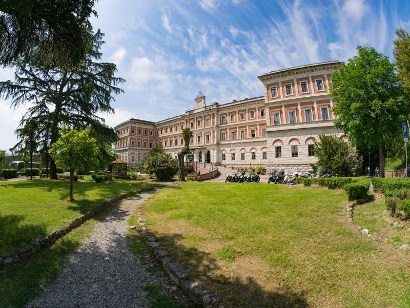 Siena, Italy,Palazzo San Niccolo royalty free stock image