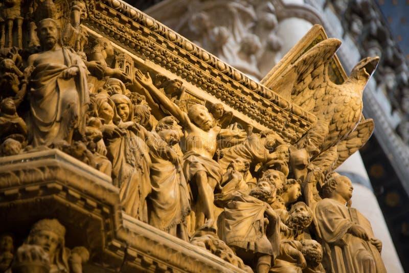 Siena katedra w Tuscany, Włochy fotografia royalty free