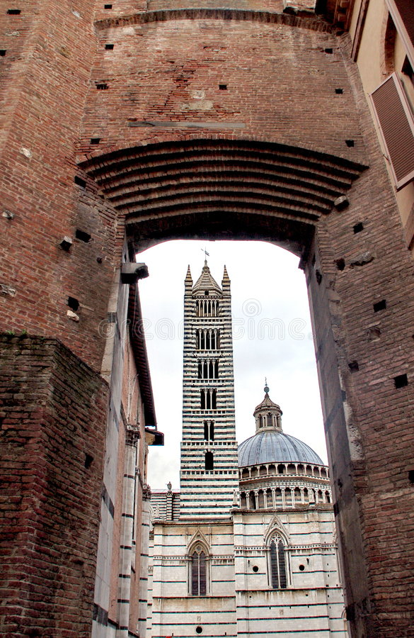 Siena kathedraal royalty-vrije stock afbeelding