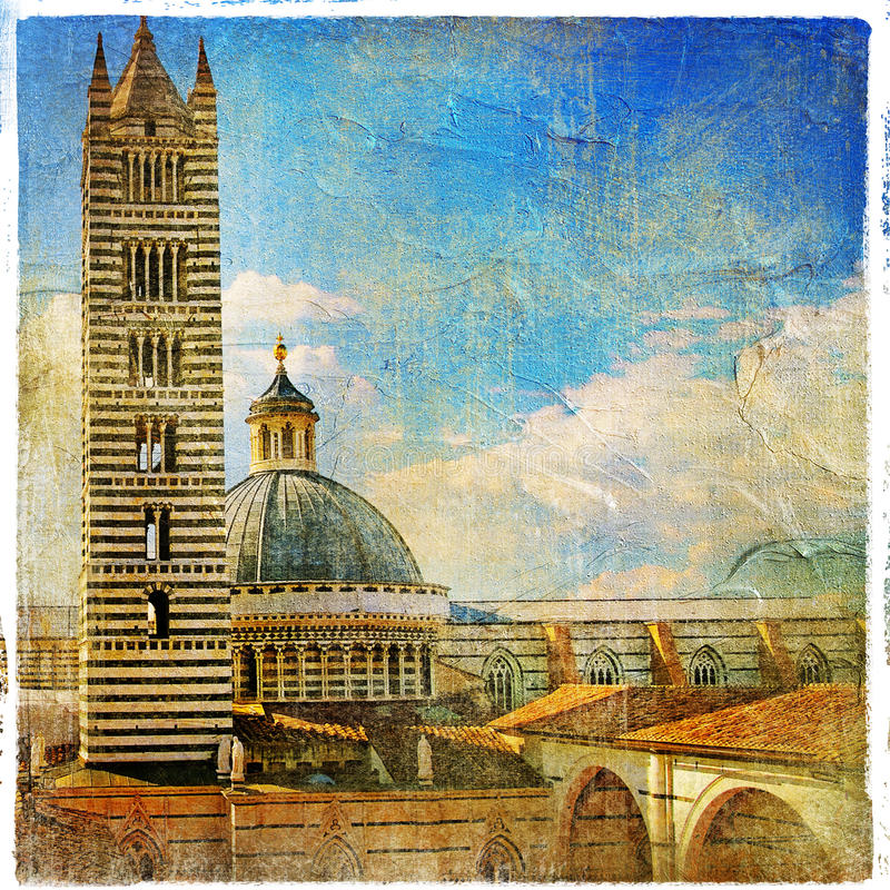 Siena kathedraal royalty-vrije stock foto's