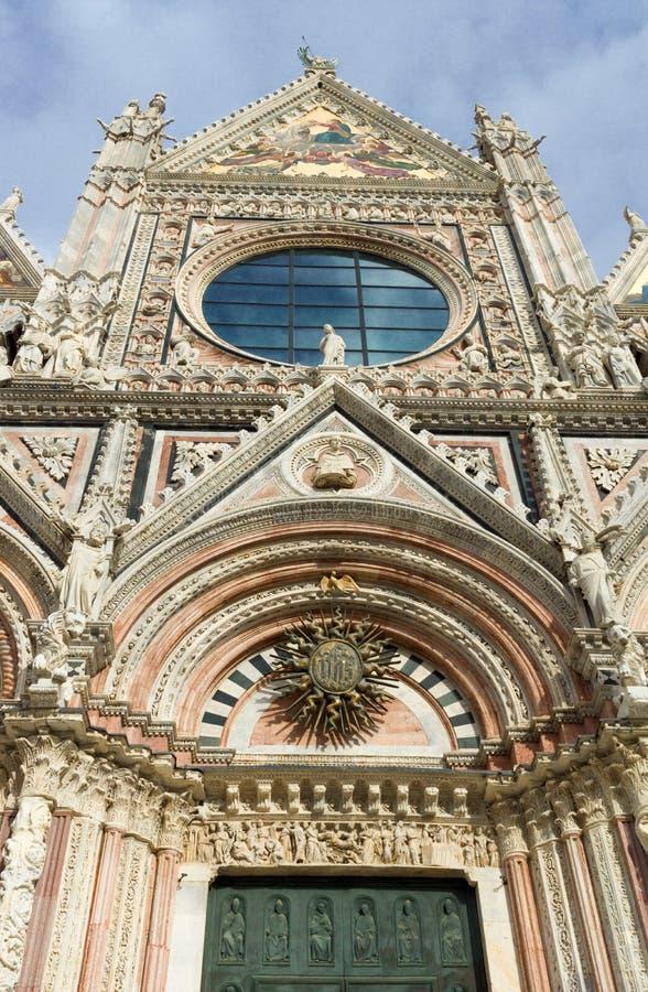 Siena kathedraal in Italië stock foto