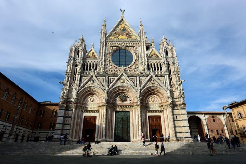 Siena Kathedraal, Toscani?, Itali? stock foto's