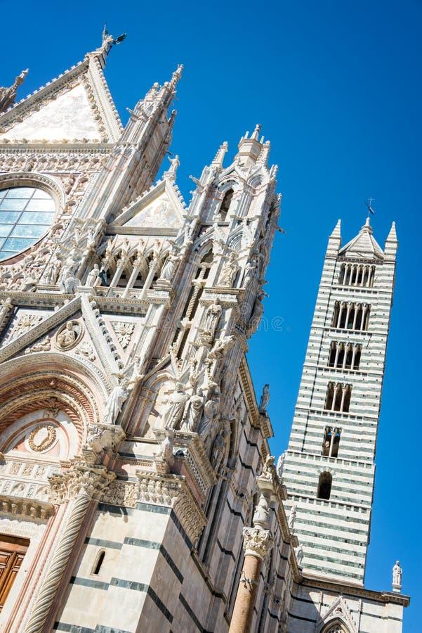 Siena kathedraalduomo in Siena, Toscanië Italië royalty-vrije stock foto