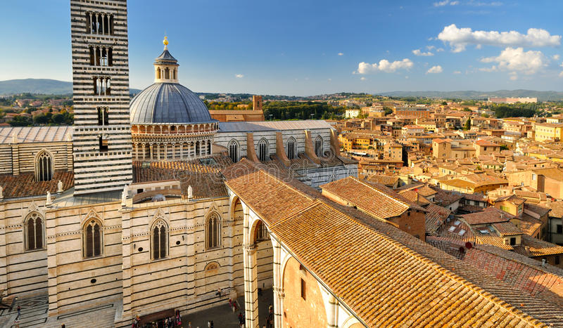 Siena-Kathedrale (Duomo) stockbild