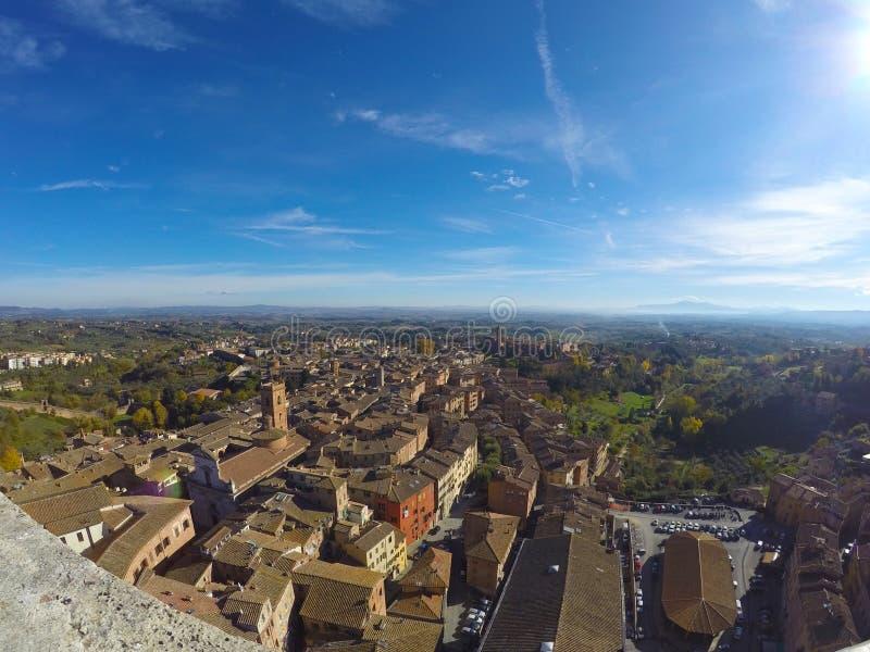 Siena krajobraz od wierzchołka obrazy stock