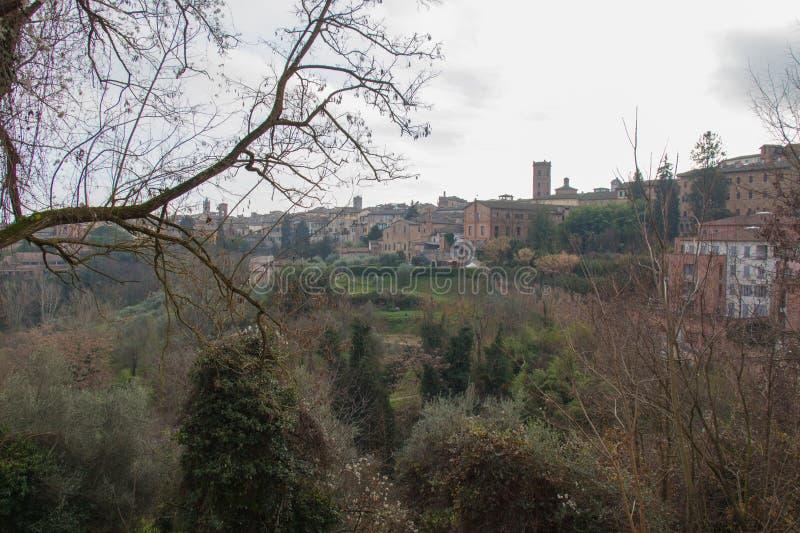 Siena landscape. Tuscany, Italy. stock photos
