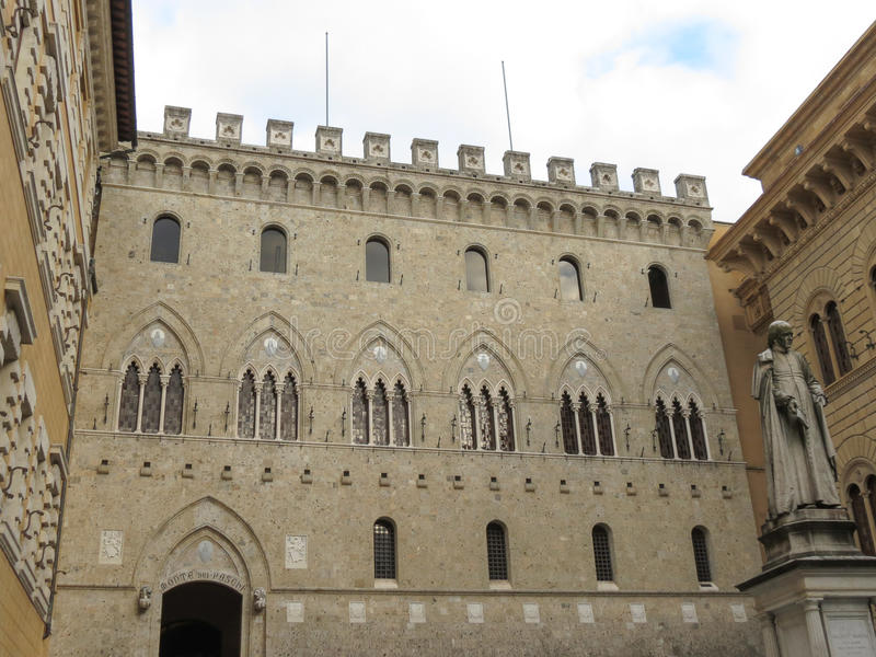Siena, Monte dei Paschi bank royalty free stock photography